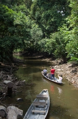 Canoe to Sani Lodge