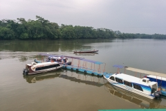 Departing down river to Sani Lodge - Napo River, Ecuador. The Napo River is a tributary of the Amazon River.