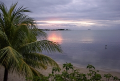 Arriving at Placencia, Belize, January 2010