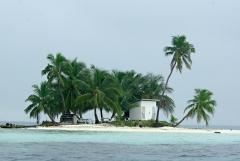 Island on Belize Barrier Reef