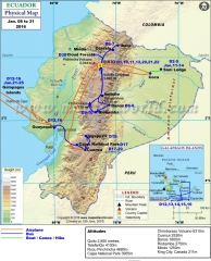 Ecuador Tour Map