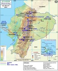 Ecuador Tour Map