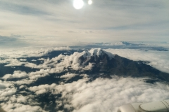 Volcano from Airplane